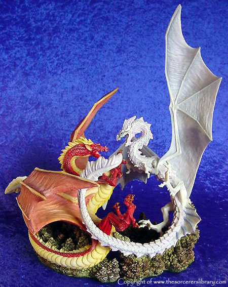 Snowhawk to form two Dragons fighting (hence the Dragon Duel name) as
